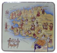 Hộp hình Bản đồ các Dân tộc Pháp